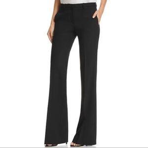 Theory Black Wool-Blend Flared Pants